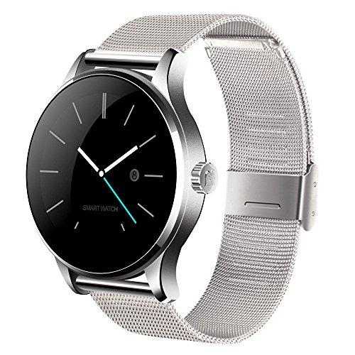 KKmoon K88H Bluetooth 4.0 Smart Watch Handy-Uhr für iPhone iOS 7.0 oder Android 4.3 oben Smartphone, 1.22 Zoll IPS