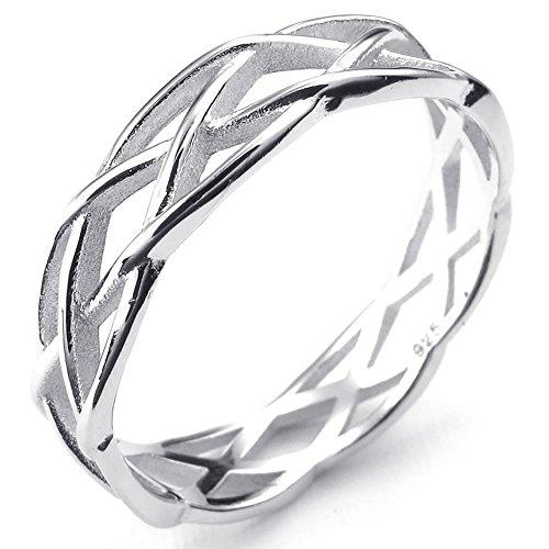 KONOV Schmuck Damen-Ring, 925 Sterling Silber, Lieben Nisten, Silber - Gr. 62