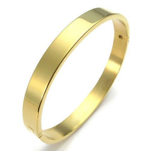 KONOV Schmuck Herren Damen Armband, Edelstahl Armreif, Gold