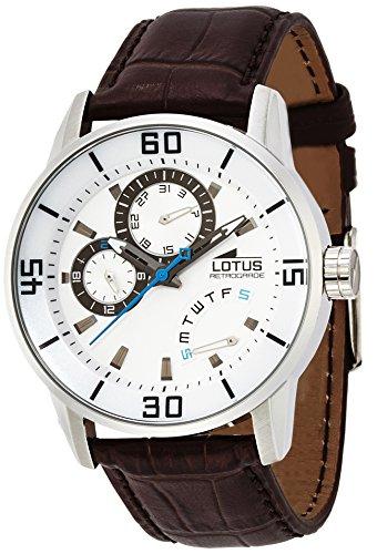 Lotus Herren-Armbanduhr XL Analog Quarz Leder 15798/1