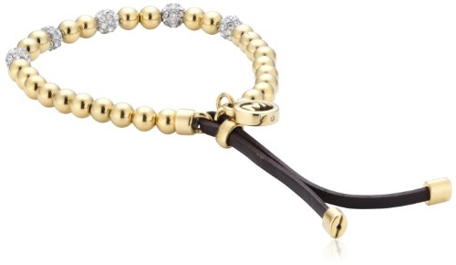 michael kors damen armband leder messing ip gold braun. Black Bedroom Furniture Sets. Home Design Ideas