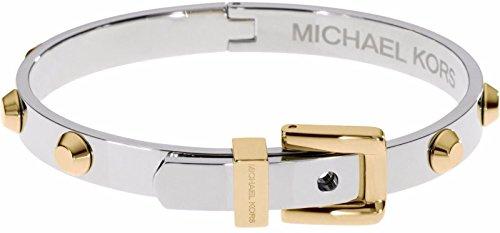 Michael Kors Damen-Armreif 'Astor'Schnalle Gold Silber MKJ1829 931