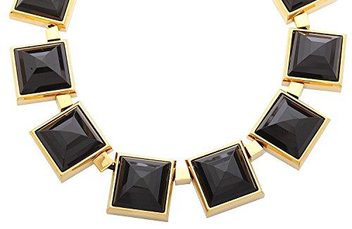 michael kors damen halskette edelstahl gold schwarz. Black Bedroom Furniture Sets. Home Design Ideas