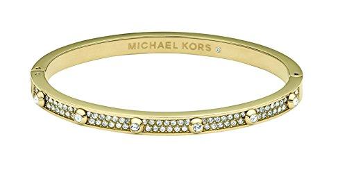 Michael Kors Heritage Astor Pave Crystal Golden Bangle Bracelet