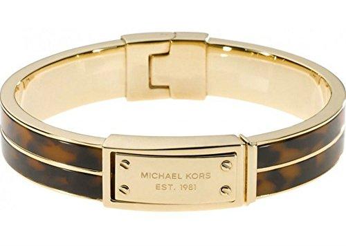 Michael Kors MKJ2247 Damen-Armband Schildkröte und Gold-Stahl-Logo
