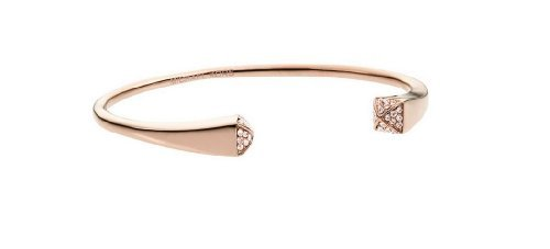 Michael Kors MKJ2843Armreif mit Kristall-Enden, Rotgold-Ton Manschette Armband