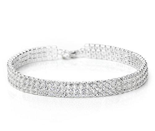 Neoglory Jewellery silber Armband mit Strass weiß Damen luxus
