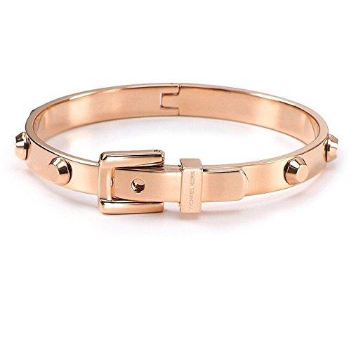 New Michael Kors Women's Astor Buckle Bangle Bracelet Rose Gold Tone MKJ1821-791