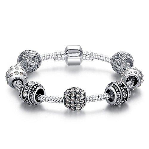 Occulto Damen Schmuck Armband 925 Bettelarmband mit verschiedenen Anhängern (Italienisches Designerarmband)