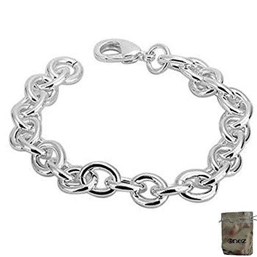 Original Enez Armkette Bettelarmband 925 Silber Plattiert Länge 20cm (427) + Geschenkbeutel