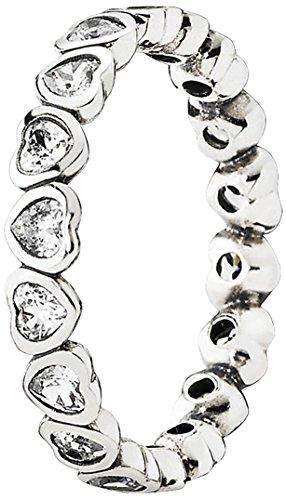 Pandora Damen-Ring 925 Silber Zirkonia transparent Gr. 58 (18.5) - 190897CZ-58