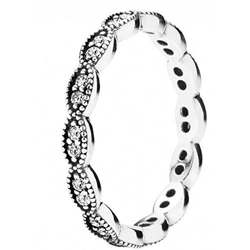 Pandora Damen-Ring 925 Silber Zirkonia weiß Gr. 52 (16.6) - 190923CZ-52