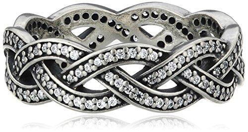 Pandora Damen-Ring 925 Silber Zirkonia weiß Gr. 58 (18.5) - 190913CZ-58