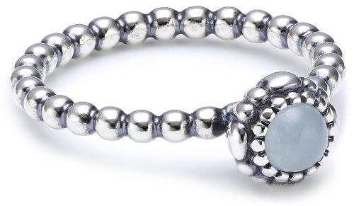 Pandora Damen-Ring 925 Sterling Silber Aquamarin blau Gr.58 (18.5) 190854AQ-58