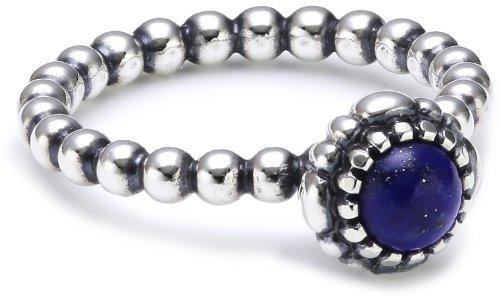 Pandora Damen-Ring 925 Sterling Silber Lapis Lazuli blau Gr.58 (18.5) 190854LP-58