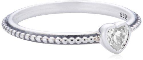 Pandora Damen-Ring 925 Sterling Silber Zirkonia weiß Gr.52 (16.6) 190896CZ-52