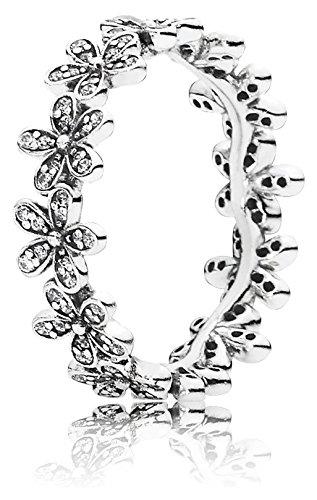 Pandora Damen-Ring Glanzvolles Gänseblümchen-Band 925 Silber Zirkonia weiß Gr. 56 (17.8) - 190934CZ-56