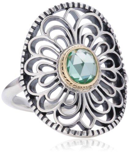 Pandora Damen-Ring Silber Spinell grün Gr.56 (17.8) 190885SSG-56