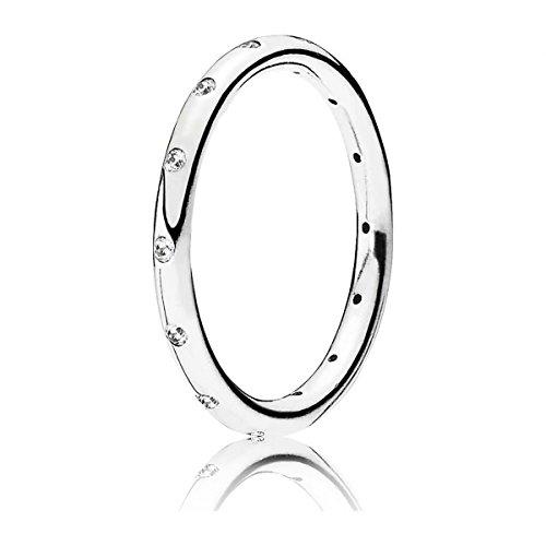 Pandora Damen-Ring Tröpfchen 925 Silber Zirkonia weiß Gr. 50 (15.9) - 190945CZ-50
