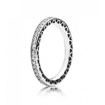 Pandora Damen-Ring Unendliche Herzen 925 Silber Zirkonia transparent Gr. 56 (17.8) - 190963CZ-56
