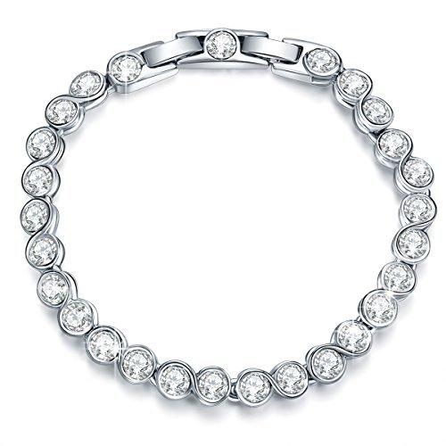 """Pauline & Morgen """"Reines Freude"""" Damen Armband Schmuck mit Kristallen von Swarovski geburtstagsgeschenke muttertagsgeschenke Weihnachtsgeschenke valentinstag geschenk geschenke für frauen mama mütter"""