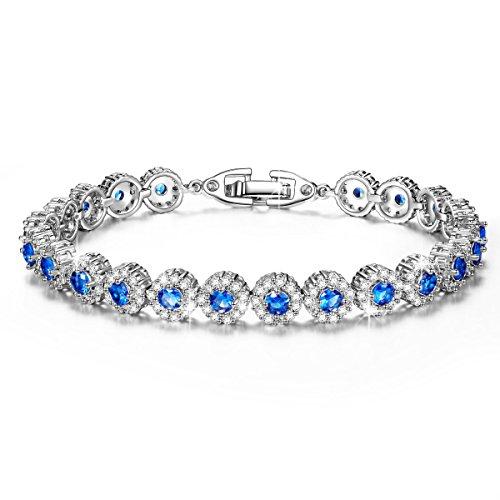 """Pauline & Morgen """"sternenklare Nacht"""" Damen Armband Kristall Blau Armreif Schmuck Geburtstagsgeschenk Weihnachtsgeschenke Muttertag Valentinstag geschenke für frauen zum geburtstag freundin"""