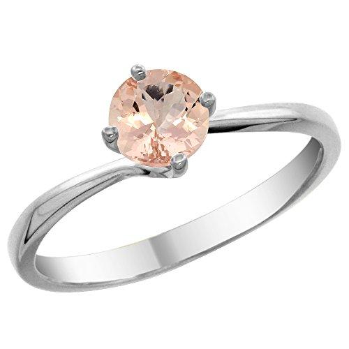 Revoni 14 Karat Weißgold Rundschliff Ring Morganit CW413204