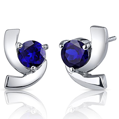 Revoni Damen-Ohrringe 925 Sterlingsilber Saphir 2.50 Karat blau