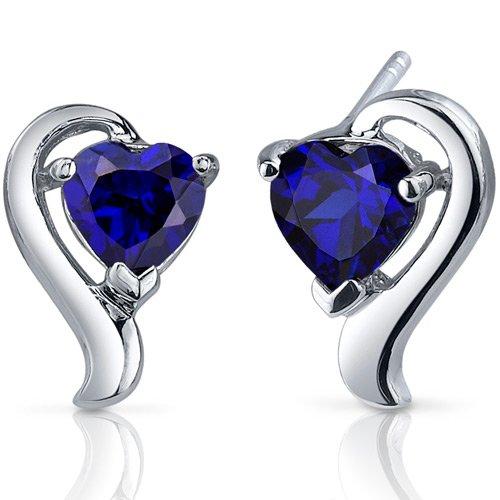 Revoni Damen-Ohrstecker 925 Saphir Blau 1.3 cm - PER-SE7756