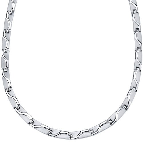 Revoni Glied Herren Halskette Titanium- 51 cm lang