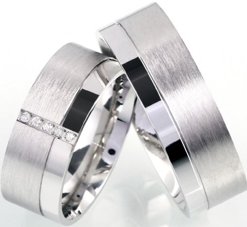Roberto Massini 2 Designer-Trauringe,Verlobungsringe,Freundschaftsringe Silberringe Verona 02 Gravur & Versand kostenlos