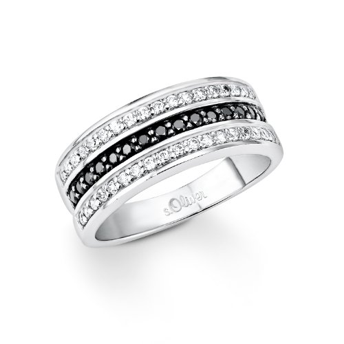 S. Oliver Damen-Ring 925 Silber Zirkonia mehrfarbig Gr. 54 (17.2) - 418935