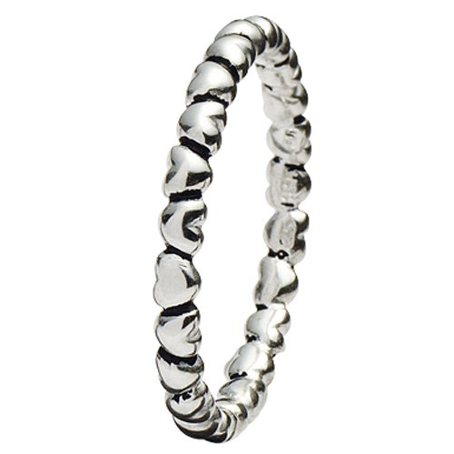 SPINNING Jewelry Damenring 925 Sterling Silber *ENDLESS HEART* Ringgröße 51 16303XS