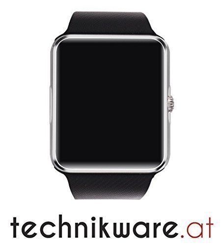 "SmartWatch Premium G4 (SIM-Karte) NFC Uhr Watch (Android, iOS) 1,54"" Zoll (ca. 3,91 cm) by Technikware.at (Schwarz)"