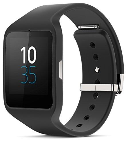 Sony Mobile SWR50 SmartWatch 3 Fitness- und Aktivitätstracker Armband Kompatibel mit Android 4.3+ Smartphones - Schwarz