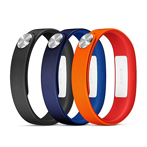 Sony Mobile SmartBand Wrist Straps Armbänder Large A1 in 3er Pack - Rot/Blau/Schwarz