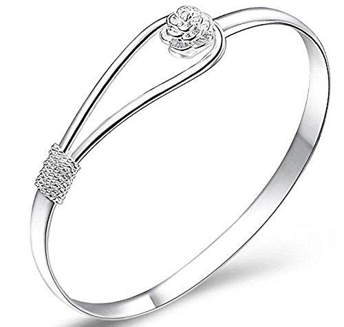 StillCool® shifashionshop Damen Schmuck Silber Kette Armband Armreif Armbänder