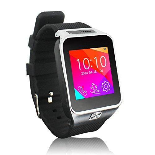 Sudroid entriegelte Uhr-Handy mit Bluetooth Kamera FM Touch Screen und Tastatur Quadband Uhr-Handy-Silber