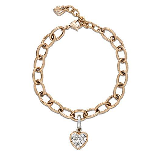 Swarovski Damen-Armband Heart Charm Set Kristall transparent 22.5 cm - 5052532
