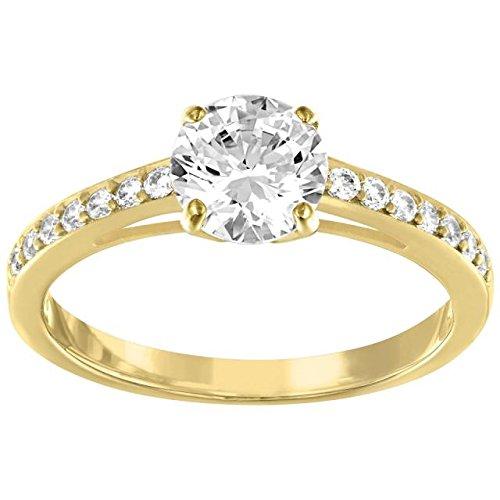 Swarovski Damen-Ring Attract Round rund Kristall weiß Gr. 59 (18.8) - 5140108