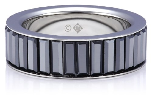 Swarovski Damen-Ring Edelstahl Tace Jet Hematite Kristall Gr. 56 (17.8) 1179772