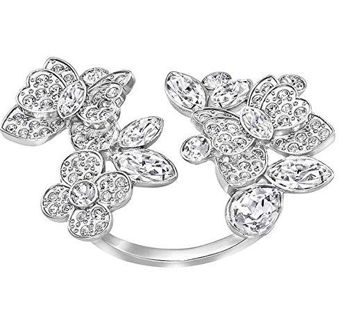 Swarovski Damen-Ring Eden Open rhodiniert Kristall weiß Gr. 55 (17.5) - 5182029