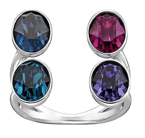 Swarovski Damen-Ring Eminence rhodiniert Kristall mehrfarbig Gr. 58 (18.5) - 5221525