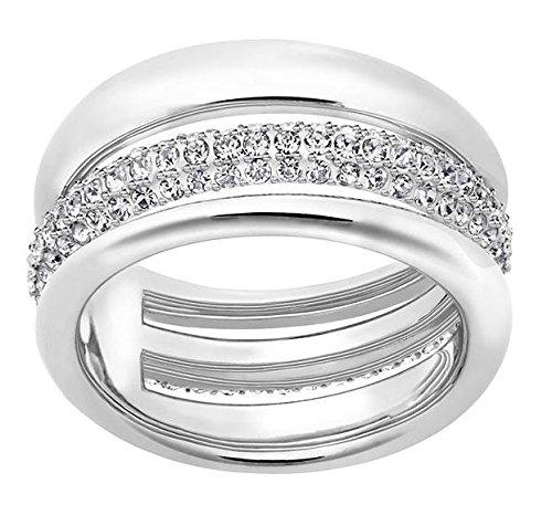 Swarovski Damen-Ring Exact rhodiniert Kristall weiß Gr. 55 (17.5) - 5210668