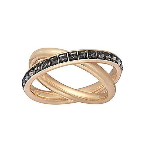 Swarovski Damen-Ring Glas schwarz Gr. 52 (16.6) - 5184226