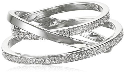 Swarovski Damen-Ring Glas transparent Gr. 50 (15.9) - 5102500