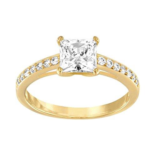 Swarovski Damen-Ring Glas transparent Gr. 50 (15.9) - 5139637