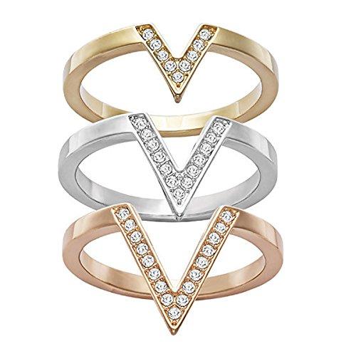 Swarovski Damen-Ring Glas transparent Gr. 58 (18.5) - 5184582