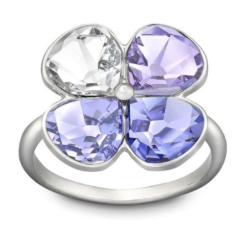 Swarovski Damen-Ring Palladium Talia Kristall lila / klar Gr. 58 (18.5) 1169521