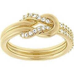 Swarovski Damen-Ring Voile teilvergoldet Glas transparent Gr. 55 (17.5) - 5099358